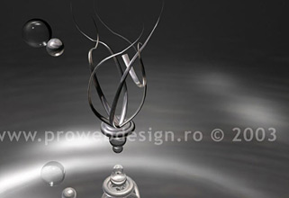 3D floating thing. 3D MAX illustration