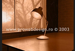 3D lamp. 3D MAX and PhotoShop illustration