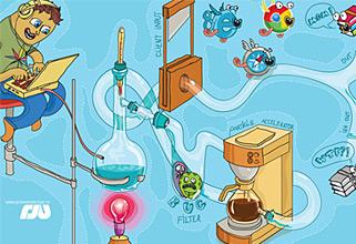 Prowebdesign web distillery. Vector illustration