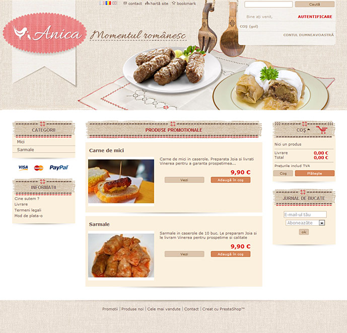 homepage anica.be screenshot