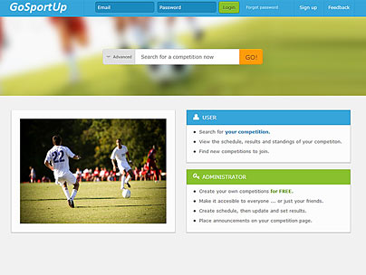 thumbnail of gosportup.com web app