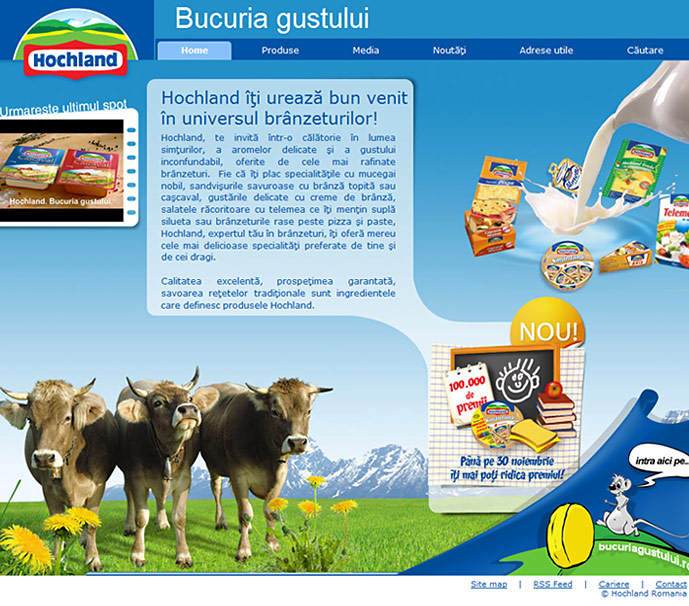 homepage of Hochland website