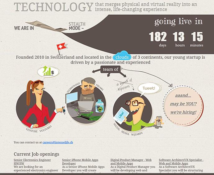 homepage of intenselife.ch website screenshot