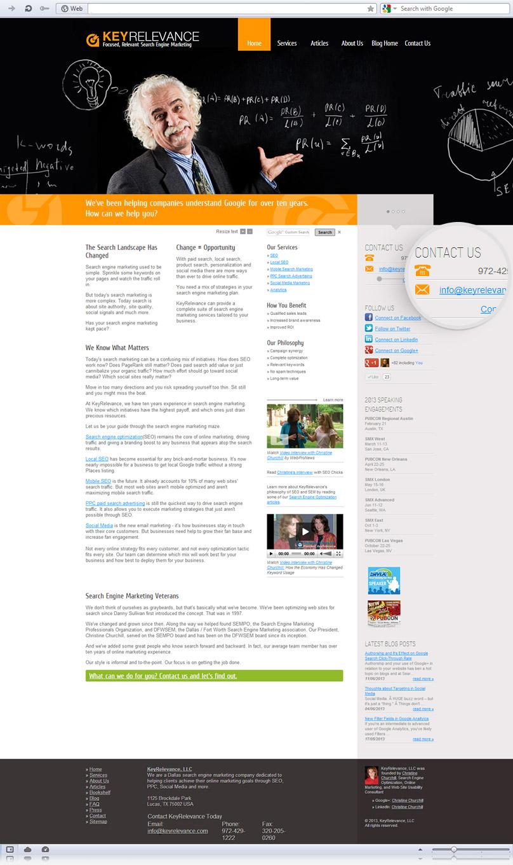 homepage of keyrelevance.com website screenshot