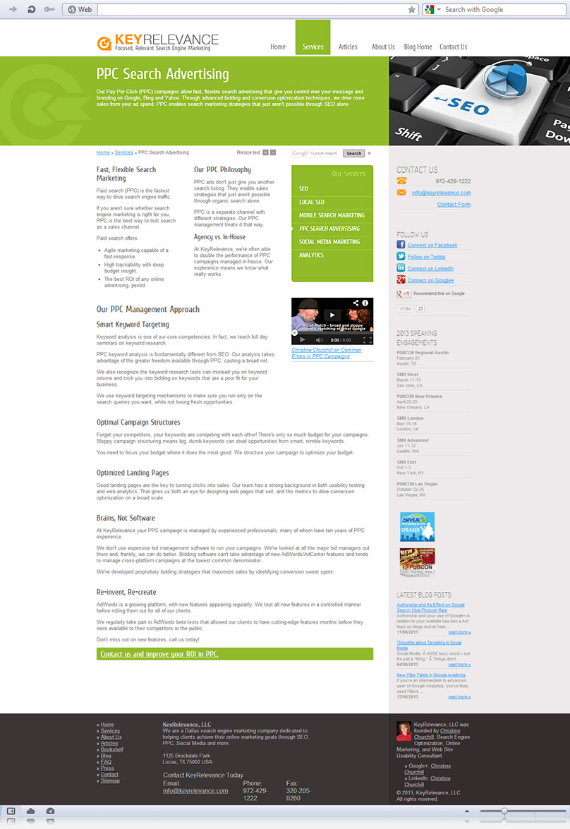PPC Advertising page screenshot