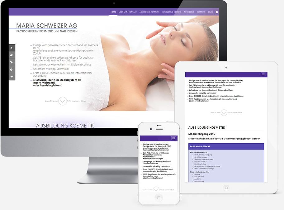 homepage mariaschweizer.ch screenshot