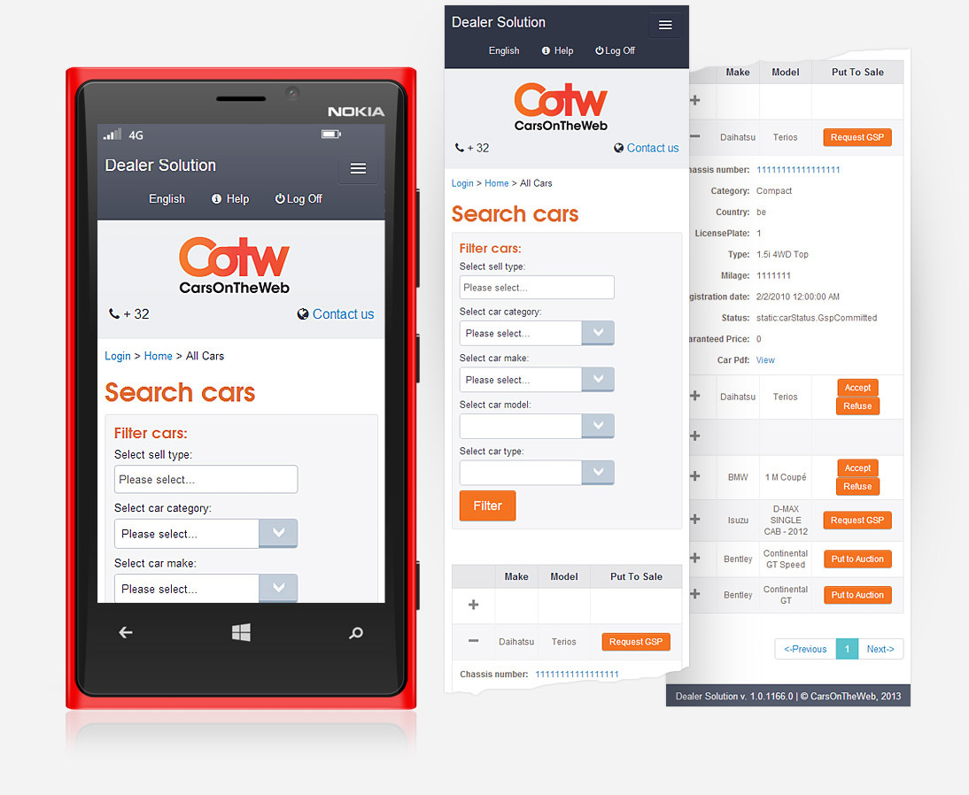 car dealer site windows app