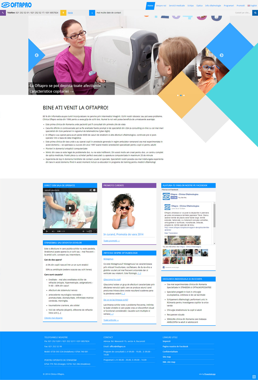 Full length Home page screenshot of Oftapro site