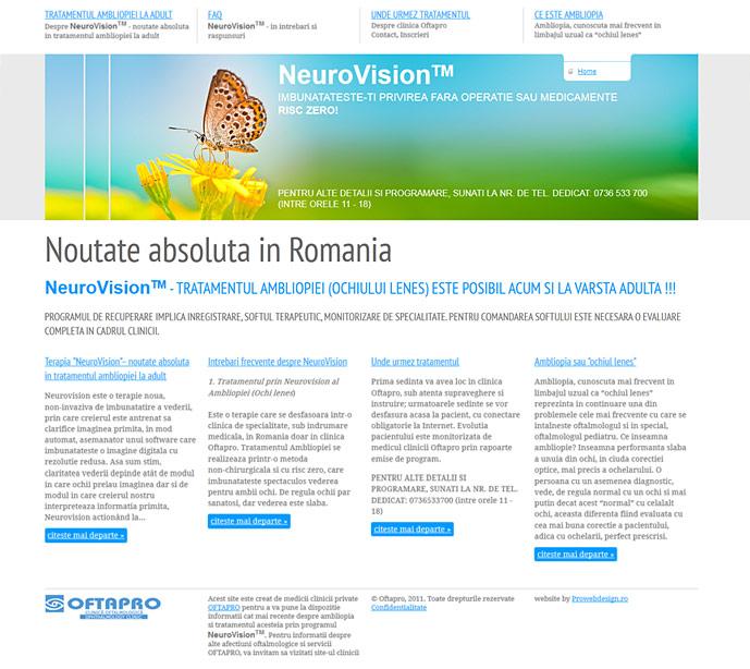Full length home page screenshot of www.ochiul-lenes.ro website