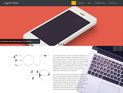 thumbnail of Responsive portfolio template