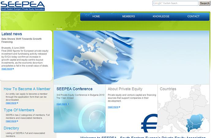 homepage of SEEPEA website screenshot