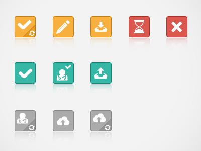 Kisano Request Status icons set