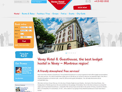 thumbnail of veveyhotel.com website