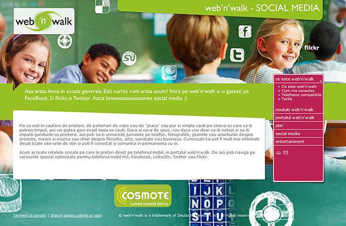 social media page of web'n'walk website