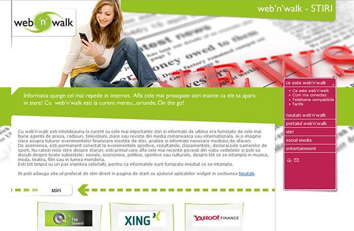 news page of web'n'walk website