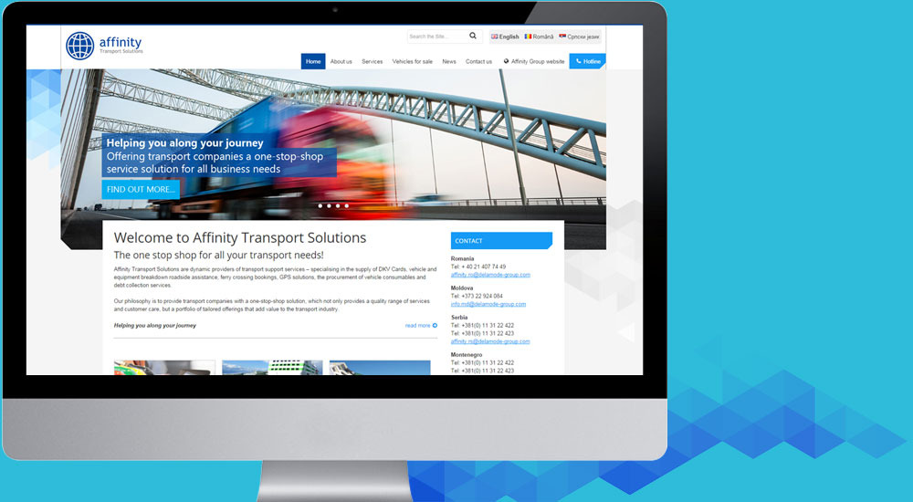 Affinity Group corporate websites - Web design company Romania