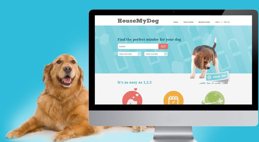 HouseMyDog com website - Web design company Romania