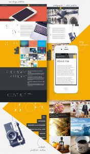 Responsive portfolio template screenshots