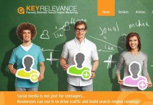 KeyRelevance.com desktop and mobile websites