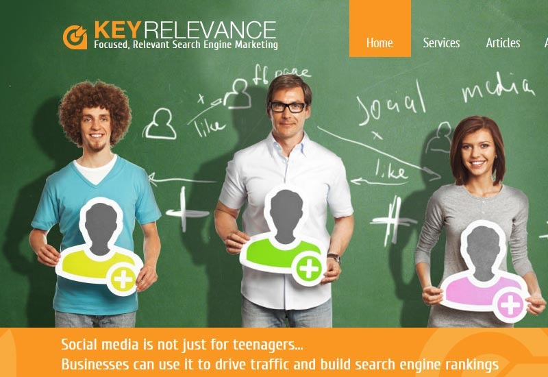 KeyRelevance.com desktop and mobile websites