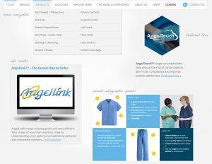 UI elements of angelica.com