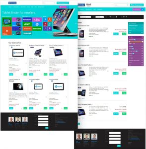 Home page & Search result pages screenshot of Metro style eCommerce front-end