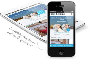 Responsive website on tablet and phone example