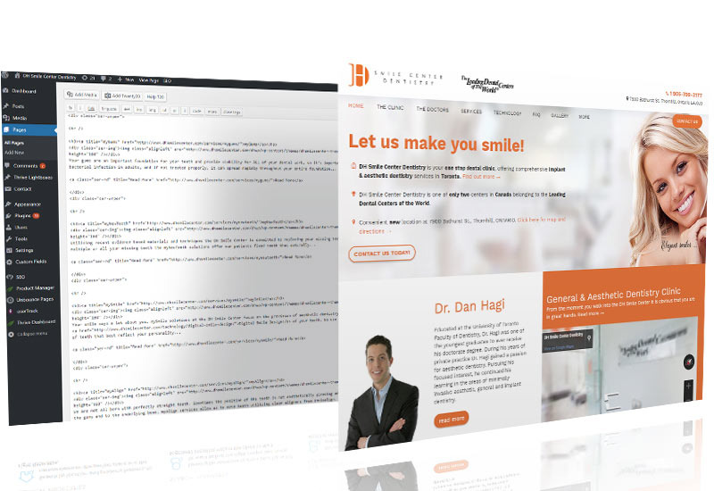 Custom WordPress Web Design, Romania