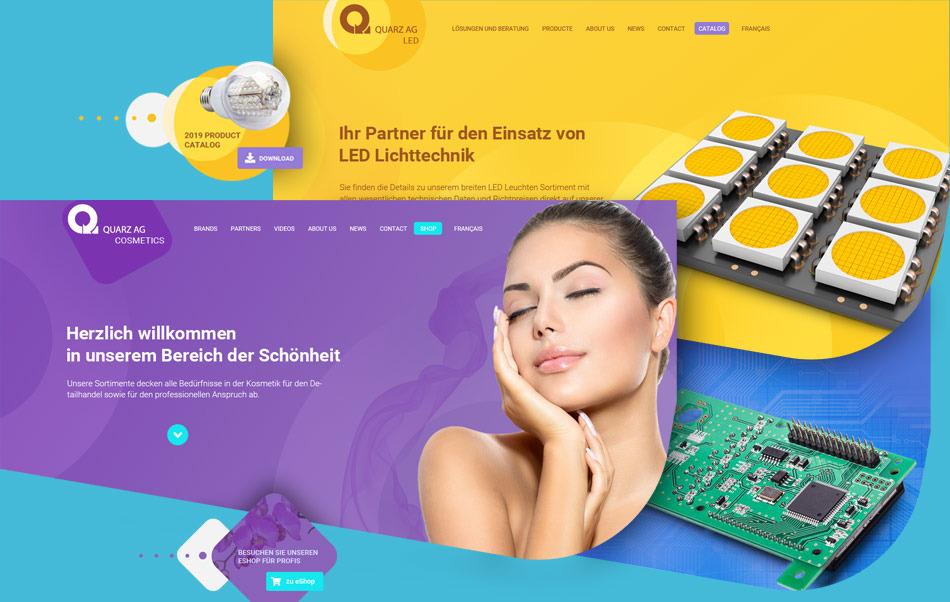 Quarz AG website section home pages