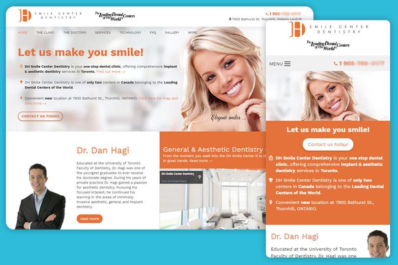 Medical Websites Slides Dhsmile Web Design Company Romania