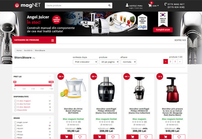 Magnet e-commerce project screenshot