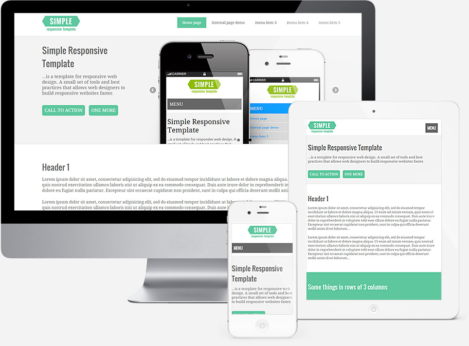 Simple Responsive Template Template For Responsive Web Design