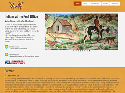 Smithsonian National Postal Museum. Native Themes in New Deal-Era Murals